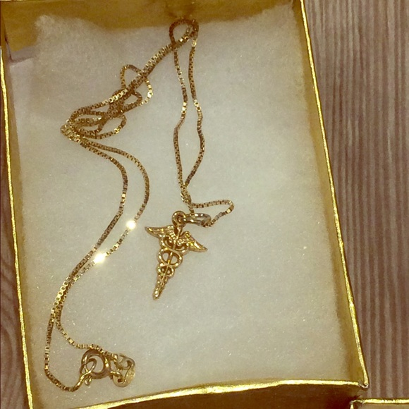 Jewelry 18kt Gold Plated Medical Symbol Necklace Poshmark